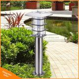Lampe solaire de pelouse de jardin de lumière de Pôle d'horizontal de l'acier inoxydable DEL