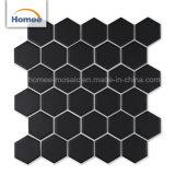Tegels van het Mozaïek van de Decoratie van het Mozaïek Splack van de keuken de Achter Matte Zwarte Hexagon