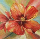아름다운 꽃 손으로 그리는 개념실재론 유화