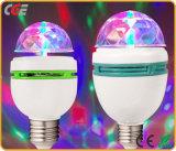 E27 3W RGB colorido giratorios bombilla LED Bombilla de luz de discoteca escenario escenario mediante