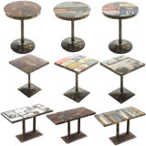 Tableau de meubles de loisirs de fer de restaurant de salle de séjour avec la présidence