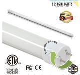 Dlc ETL T8 LED con atenuación de la luz del tubo liso