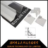 Ecke hing Aluminium-LED-Profil für LED-lineares Licht mit quadratischem Deckel ein