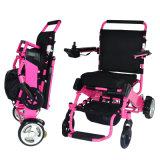 Sillón de ruedas eléctrico portable del pequeño plegamiento del equipamiento médico de la rehabilitación