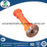 Eje de la junta del cardán de la venta W51.5 L=870 de la fábrica para el motor de petróleo usado en maquinaria del aparejo de la perforación petrolífera