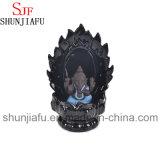 Hornilla de incienso de cerámica del humo de Ganesh que se sienta en la base de la pantalla (azul)