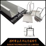 천장에 의하여 중단되는 거치된 알루미늄 LED 선형 전등 설비 최대 3m 길이