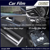 Involucro nero dell'automobile del vinile del PVC del corpo dell'involucro 5D del carbonio del vinile automatico della fibra
