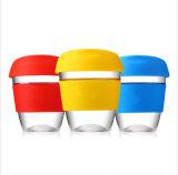 8 унции многоразовые стекле силиконовый чашки кофе чашки кофе чашку