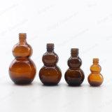 Forme Doudle gourde bouteille de verre pour l'huile essentielle avec capuchon/compte-gouttes