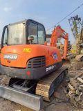 Utilisé machinerie de construction de 6 tonnes mini-excavatrice chenillée Doosan Dh60-7