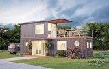 Stahlkonstruktion-Rahmen-modulares Behälter-vorfabrizierthaus