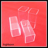Clair Rectangle Tube en verre de quartz fondu