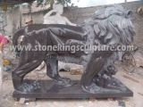 대리석 사자, 새겨진 돌 사자 및 대리석 동물 (SK-2186)