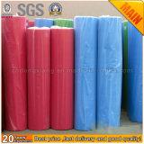 Tela não tecida reusável colorida dos PP Spunbond para a fatura dos sacos