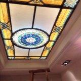La maison intérieure neuve lambrisse le plafond d'art suspendu par mosaïque en verre de tuile de matériaux
