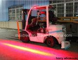 Testigo de la carretilla elevadora LED de un solo lado de la luz de la seguridad de la zona roja