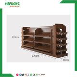Venda por grosso de madeira de Exibição de rack de vinho de supermercados