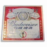 71gsm papier d'étiquette de bière métallisé avec linge de maison en relief