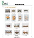 Mano Baskets-2 del rattan & del vimine & di ferro