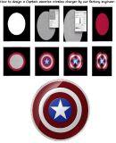 Capitán América cargador inalámbrico de China ODM Fábrica