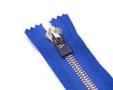 Zipper do metal com extrator de Ribber/extremidade aberta em dois sentidos/dentes de prata/qualidade superior