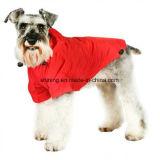赤の防水犬のレインコートペット衣服