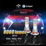 La mejor luz brillante estupenda del coche del precio H7 LED Philips Hi/Lo H4 LED H11 del coche LED de la linterna de la lámpara auto al por mayor del kit 12V LED para Honda Toyota