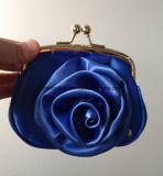 Bourse de pièce de monnaie de Madame Kiss Lock Metal Frame de beauté avec la fleur