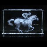 Carrera de caballos en 3D cristal