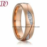 Tweekleurig nam de Gouden en Witte Zilveren Trouwring van de Ring van het Roestvrij staal toe