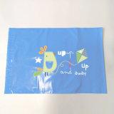 Bolso polivinílico de empaquetado del sobre del anuncio publicitario del bolso del PE de encargo de la insignia