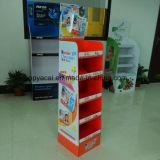 Индикация Corrugated картона с печатание Cmyk, бумажной стойкой индикации, стойкой индикации Couurgated, изготовленный на заказ индикацией шипучки, индикацией пола шипучки