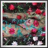 Шнурок вышивки Tulle шнурка шнурка вышивки сетки вышитый цветком
