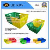 Forti gabbie di plastica di giro d'affari di memoria 268# per la trasformazione dei prodotti alimentari