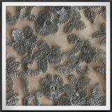 ナイロン地上のレースの網の刺繍のレースポリエステル刺繍のレース