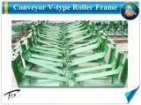 Transportador Entrega Granel V Tipo de estrutura do rolete da engrenagem intermediária
