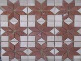 専門の工場磨かれた大理石のモザイク