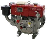 Agricultura precalentado Solo cilindro mano de arranque pequeño motor diesel (R175A)