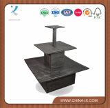 주문을 받아서 만들어진 나무로 되는 정연한 세번째 단계 전시 테이블