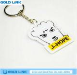 Kundenspezifischer Karikatur-Acrylschlüsselketten-Andenken-Schlüsselring