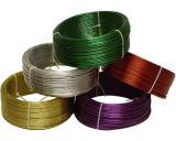 O fio revestido do ferro do PVC, fio do PVC, PVC revestiu o fio