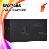 Srx728s удваивают '' шкаф Subwoofer диктора 18