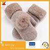 Wolle-weiche warme Handschuhe der Winter-Frauen mit Blumen