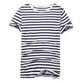 100 % de chanvre occasionnels unisexe noir et blanc T-shirt de bande