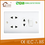 interruptor 1gang y socket de 3gang 16A 2pin