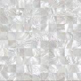 Azulejo de mosaico cuadrado blanco del shell 15*15m m de la fregona del labio