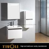 Оптовая белая малая тщета ванной комнаты с твердой поверхностной верхней частью Tivo-0001vh