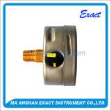 Medidor de líquidos de la industria del calibrador de presión lleno-antivibraciones presión de uso del calibrador de presión
