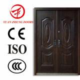 Acero caliente exterior de la seguridad de Transprint de la hoja de la puerta doble